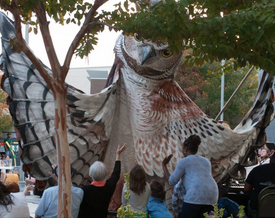 Northgate Mall Halloween Spooktacular OWL Paperhand Puppet Intervention